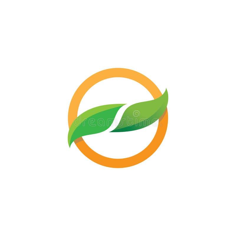 Foglia Logo Template dell'albero di Eco illustrazione vettoriale