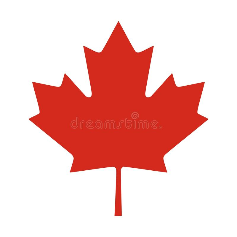 Foglia rossa del Canada royalty illustrazione gratis