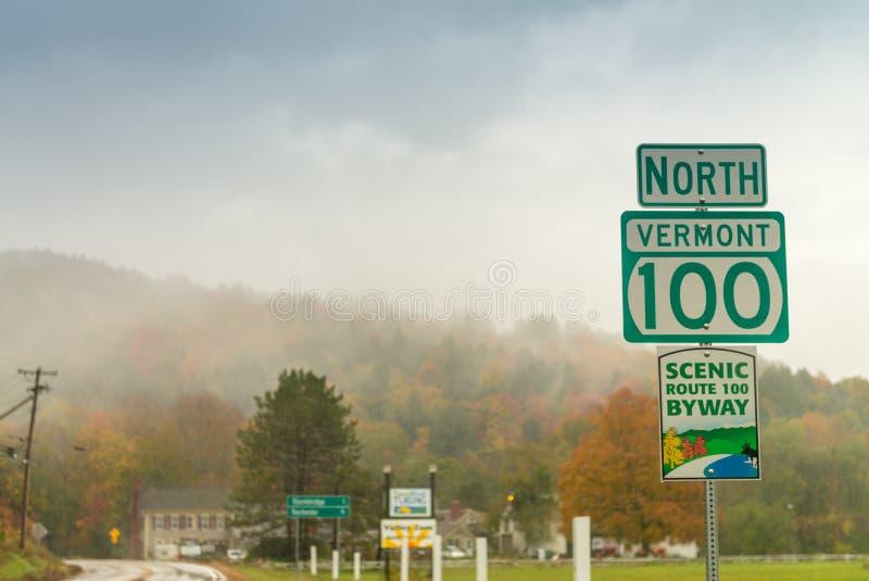 Fogliame di caduta della Nuova Inghilterra, U.S.A. fotografia stock