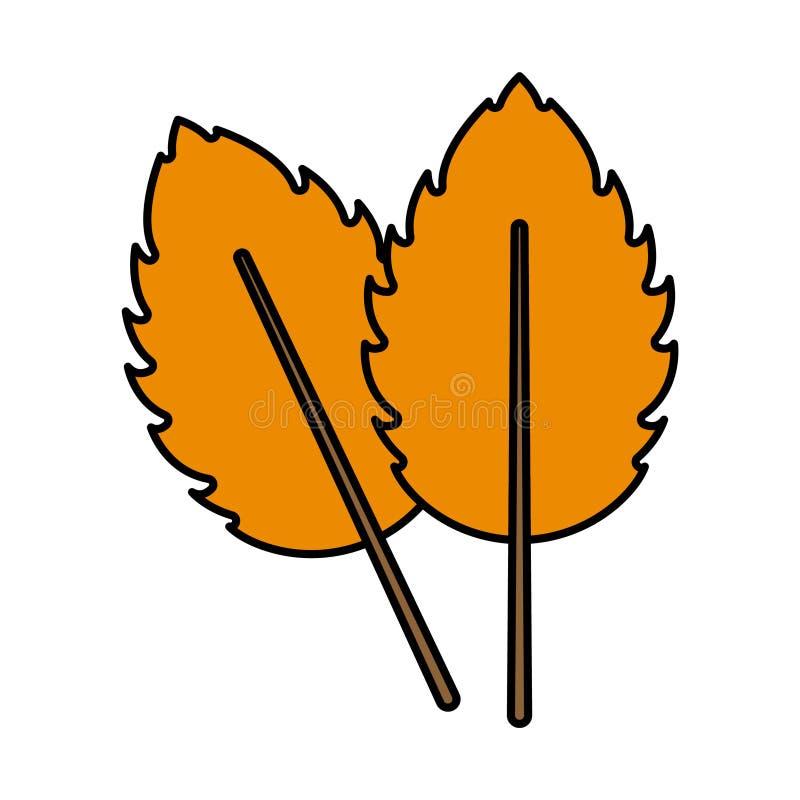Foglie arancio dell'icona due illustrazione di stock