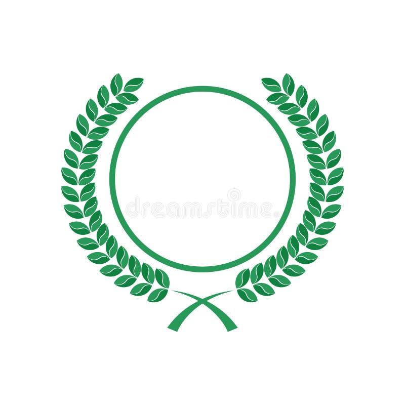 Foglie arrotondate e logo del cerchio fotografia stock