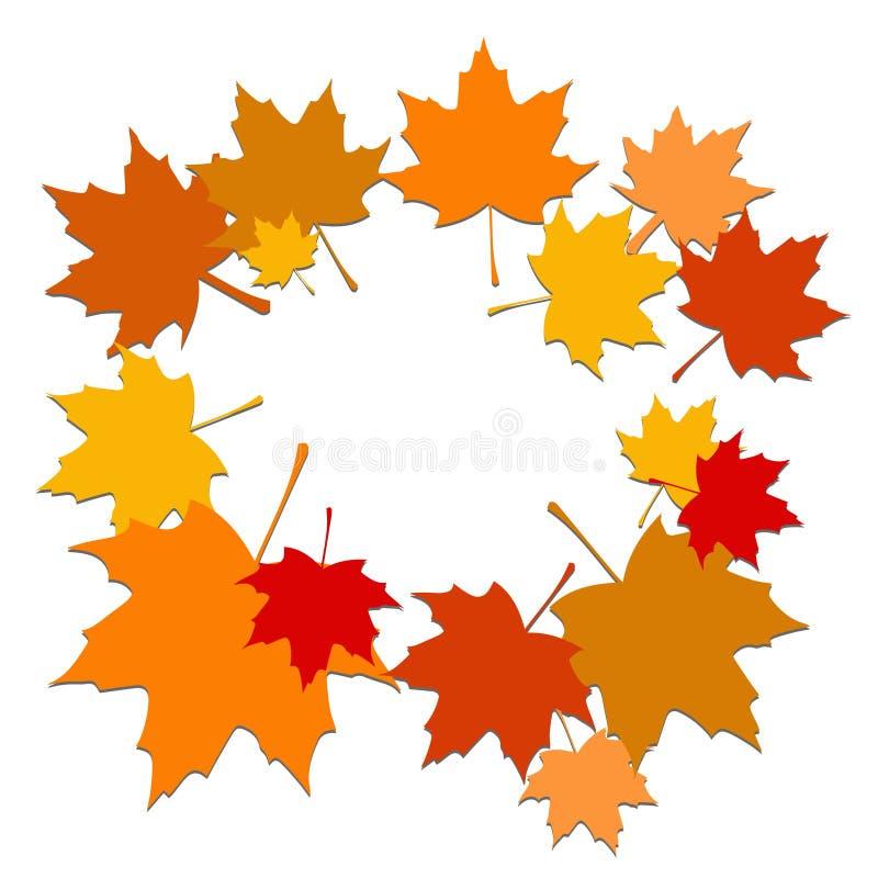 Foglie del fondo di autunno illustrazione vettoriale