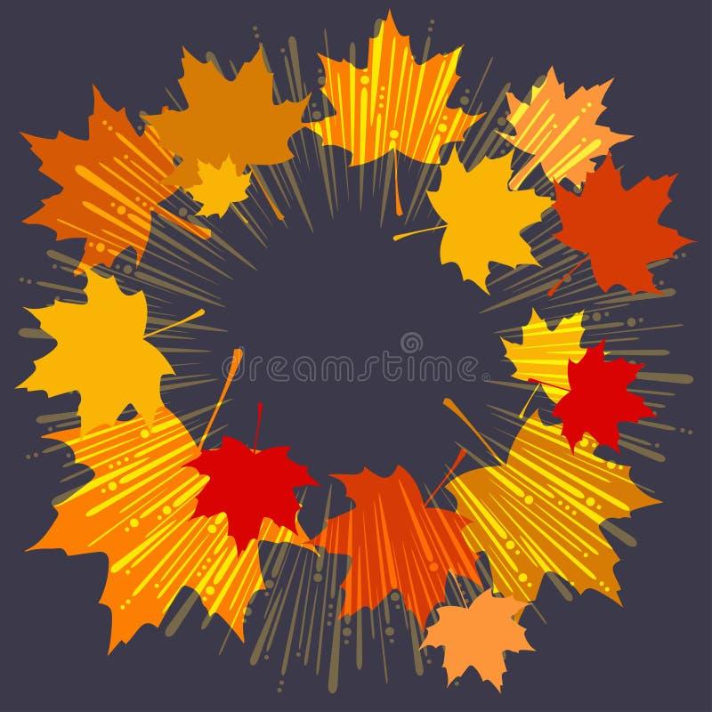 Foglie del fondo di autunno illustrazione di stock