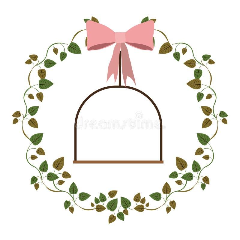 foglie dell'edera della struttura con oscillazione royalty illustrazione gratis