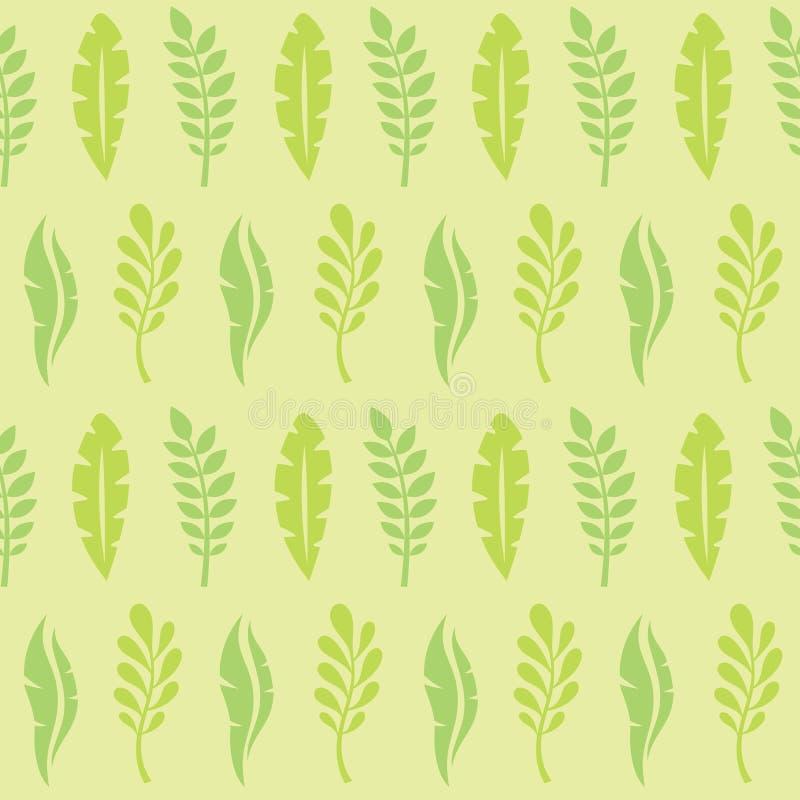 Foglie delle piante esotiche - illustrazione creativa di vettore Reticolo senza giunte floreale Priorità bassa astratta di concet royalty illustrazione gratis