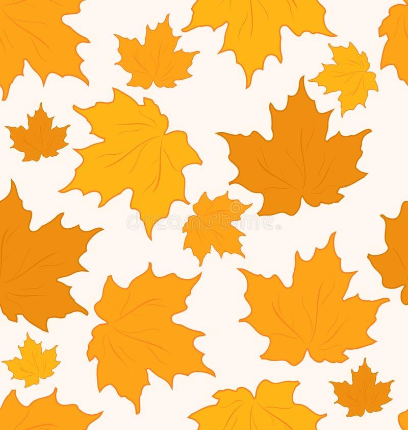 Foglie di acero d'autunno, priorità bassa senza giunte illustrazione di stock