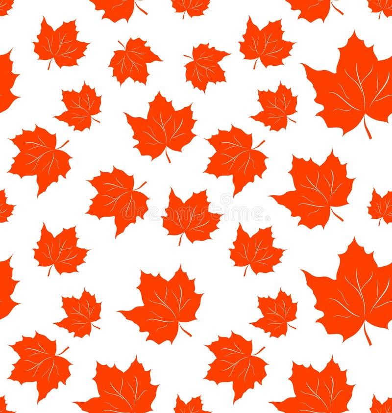 Foglie di acero d'autunno, priorità bassa senza giunte royalty illustrazione gratis