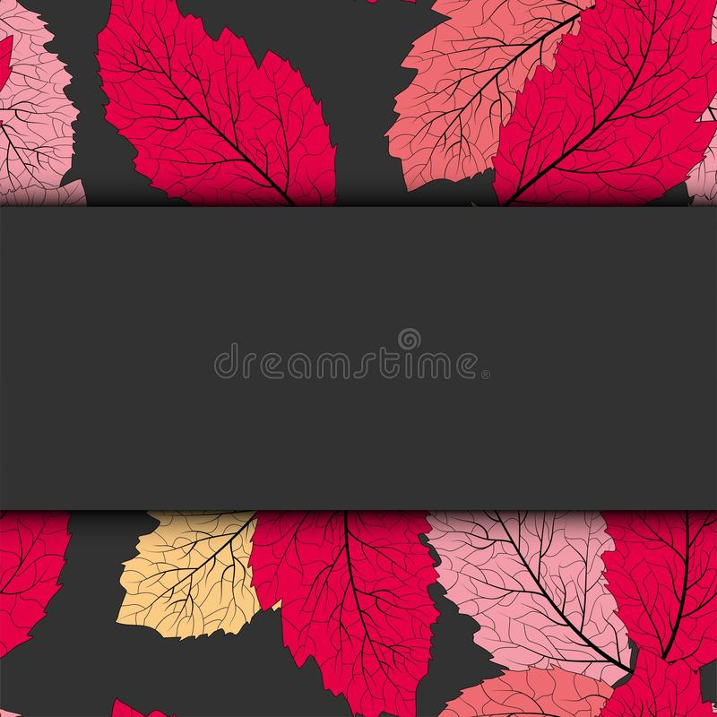 Foglie di autunno astratte per progettazione di massima viola Fondo di autunno, carta stagionale royalty illustrazione gratis