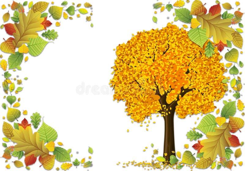 Foglie di autunno delle illustrazioni della struttura della foto illustrazione di stock