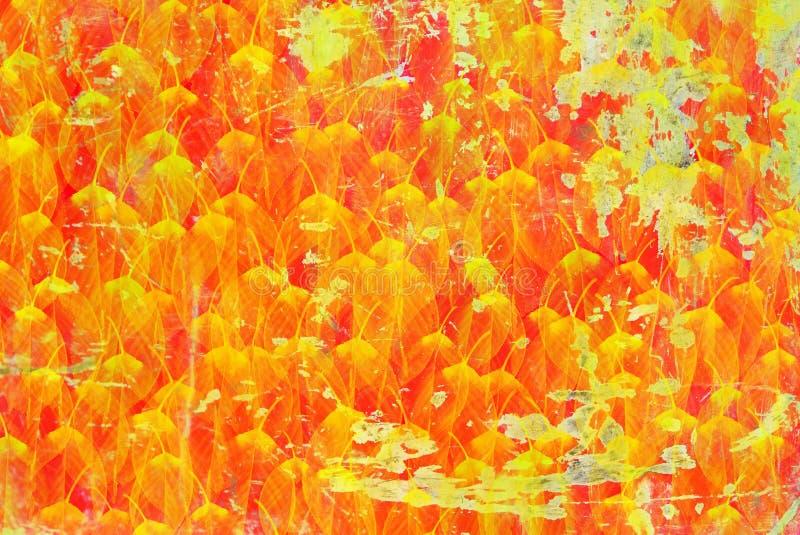 foglie di lerciume con fondo fotografia stock libera da diritti