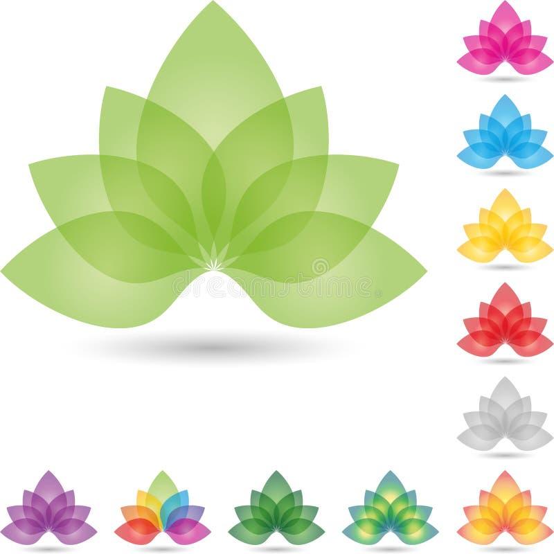 Foglie, fiore, colorato, logo della naturopata illustrazione vettoriale
