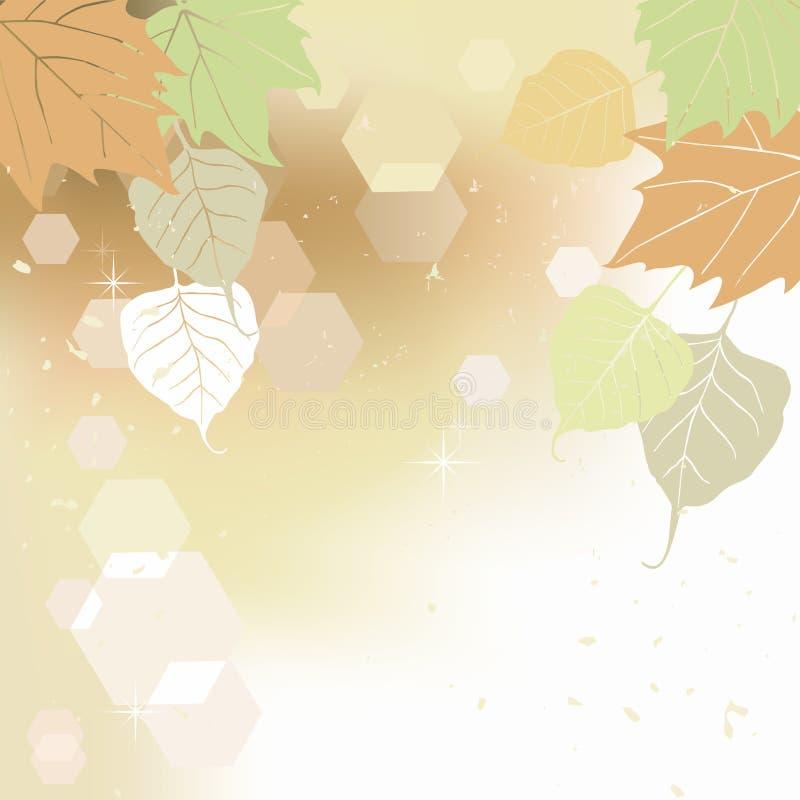Foglio, autunno - priorità bassa illustrazione di stock