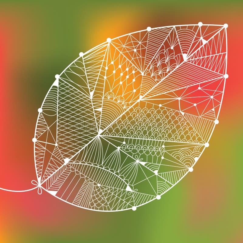 Foglio del ornamental di autunno illustrazione vettoriale