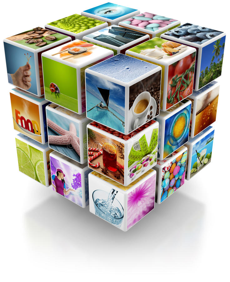 Foglio della foto collage illustrazione di stock