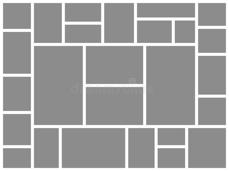 Foglio della foto collage Immagine di presentazione del manifesto del bordo di umore del modello delle strutture dei collage dell illustrazione vettoriale