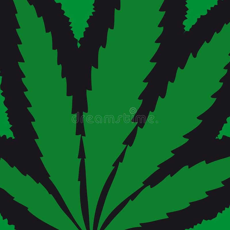 Foglio della marijuana (vettore) royalty illustrazione gratis
