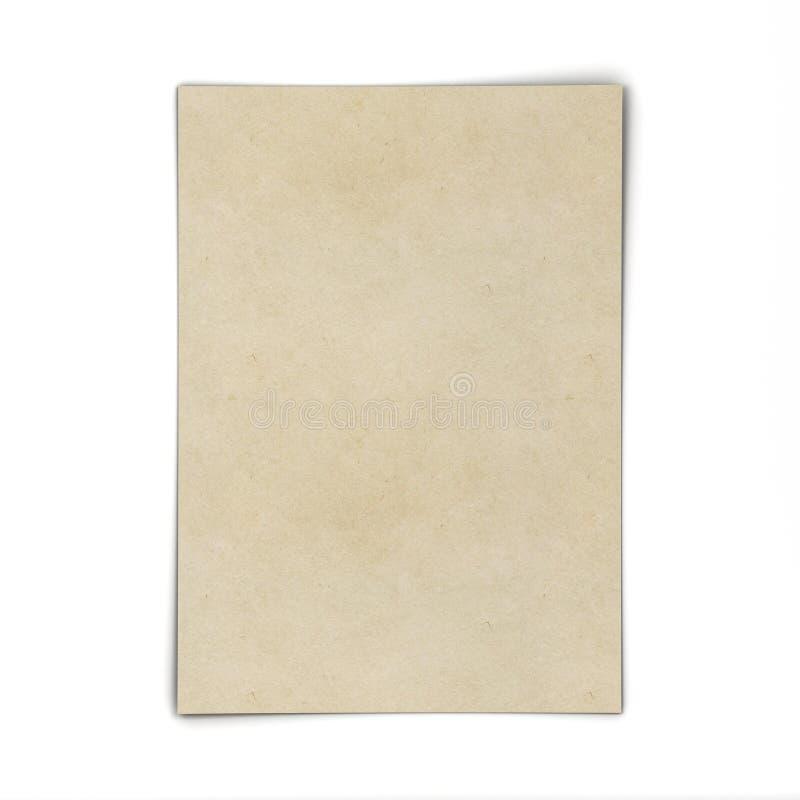 Foglio di carta in bianco illustrazione vettoriale