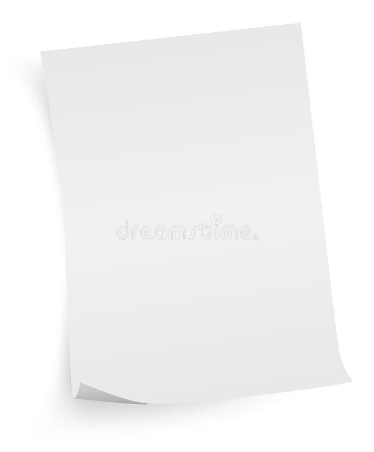 Foglio di carta bianco fotografia stock libera da diritti