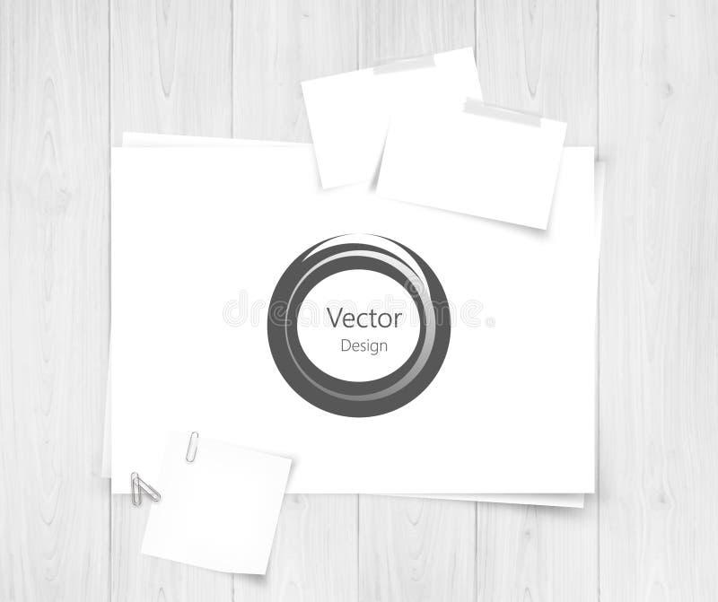Foglio di carta bianco e progettazione astratta realistico - Foglio laminato bianco ...