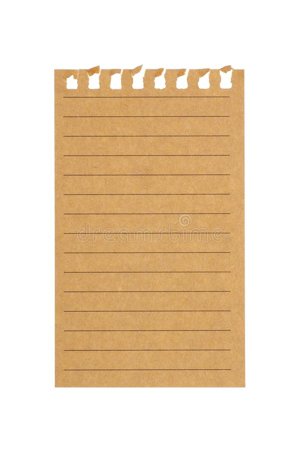 foglio di carta con le linee fotografie stock