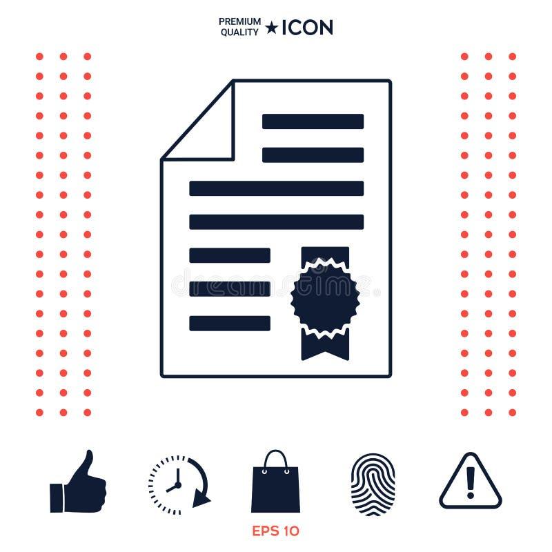 Download Foglio Di Carta Della Garanzia Con Una Medaglia Icona Illustrazione Vettoriale - Illustrazione di concetto, carta: 117977540