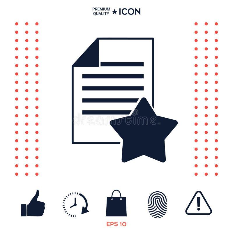 Download Foglio Di Carta Della Garanzia Con Una Stella Icona Illustrazione Vettoriale - Illustrazione di proprietà, etichetta: 117977545