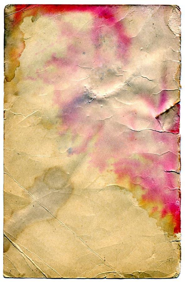 Foglio di vecchia carta fotografia stock libera da diritti