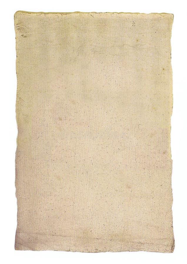 Foglio Strutturato Di Vecchia Carta Fotografia Stock