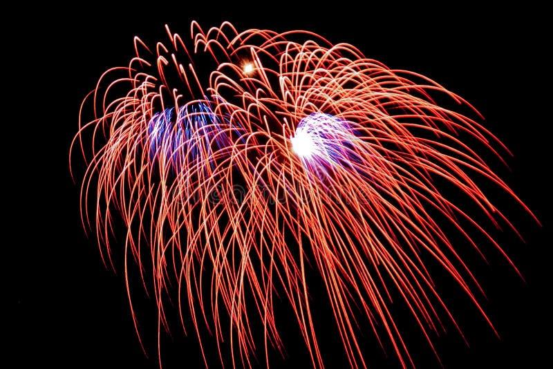 Fogo-de-artifício fotografia de stock