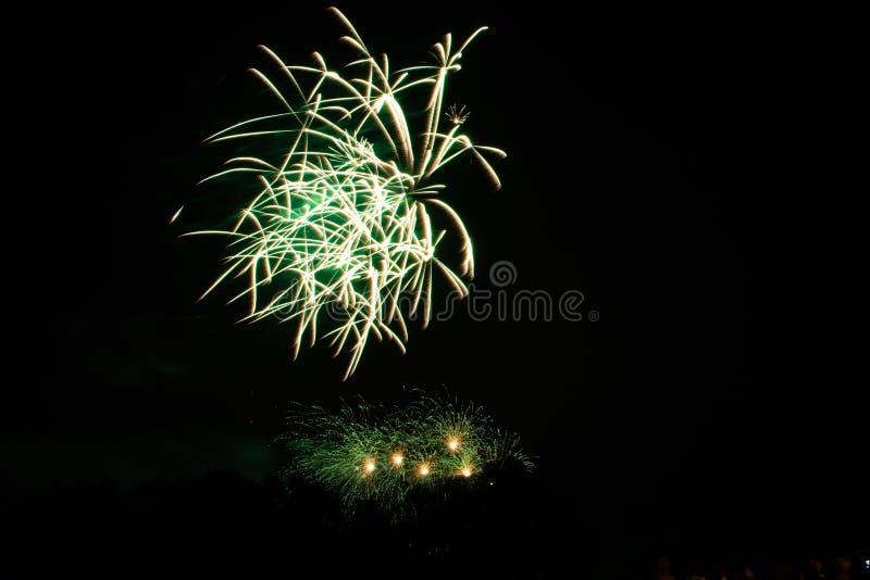 Fogo de artifício bonito no céu fotografia de stock royalty free