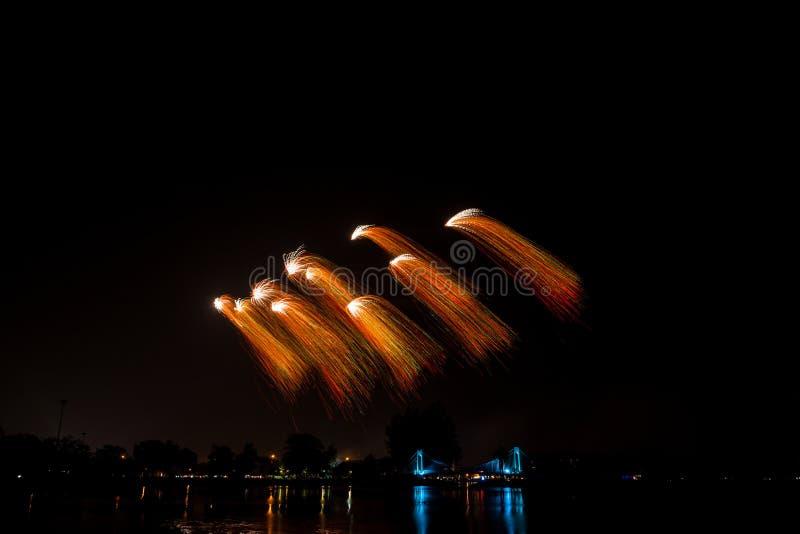 Fogo de artifício colorido fotografia de stock