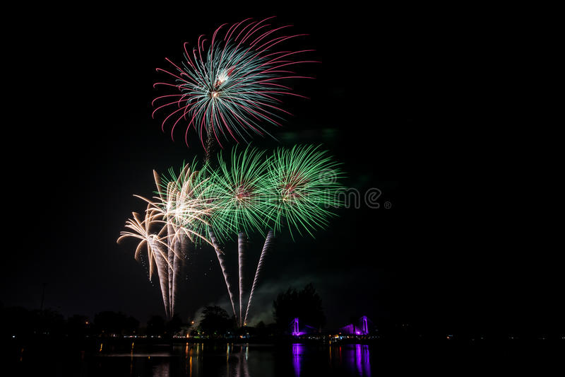 Fogo de artifício colorido fotos de stock