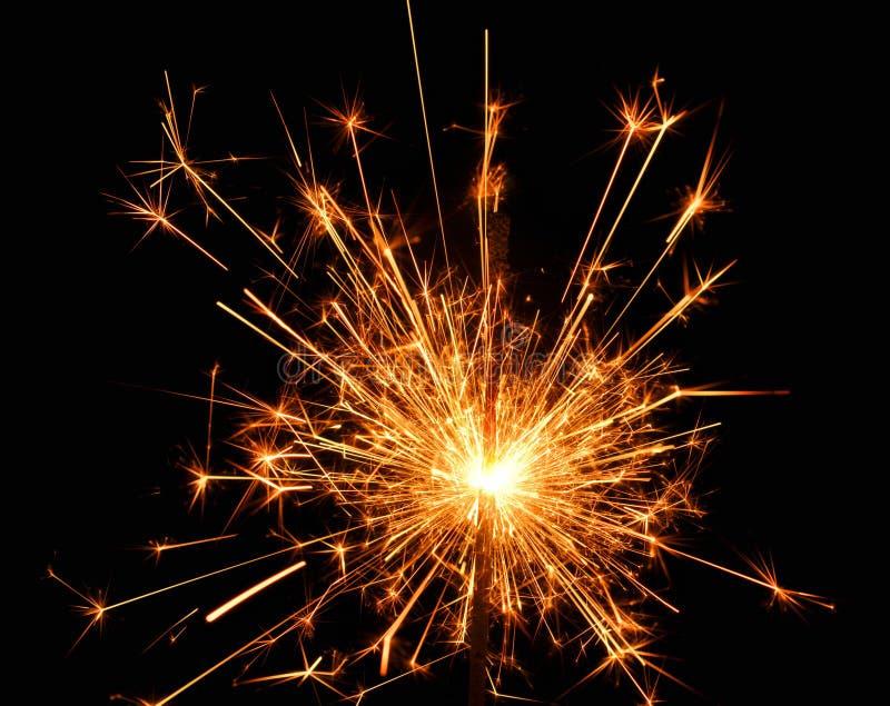 Fogo-de-artifício de explosão fotografia de stock