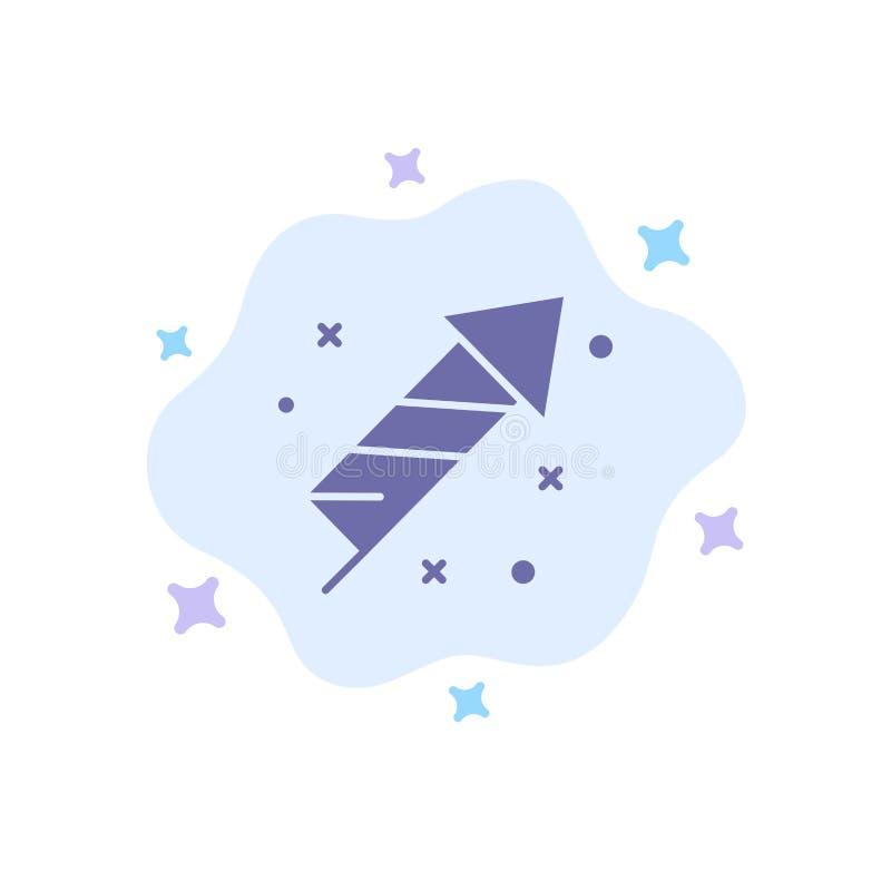 Fogo de artifício, fogo, Páscoa, ícone azul do dia no fundo abstrato da nuvem ilustração stock