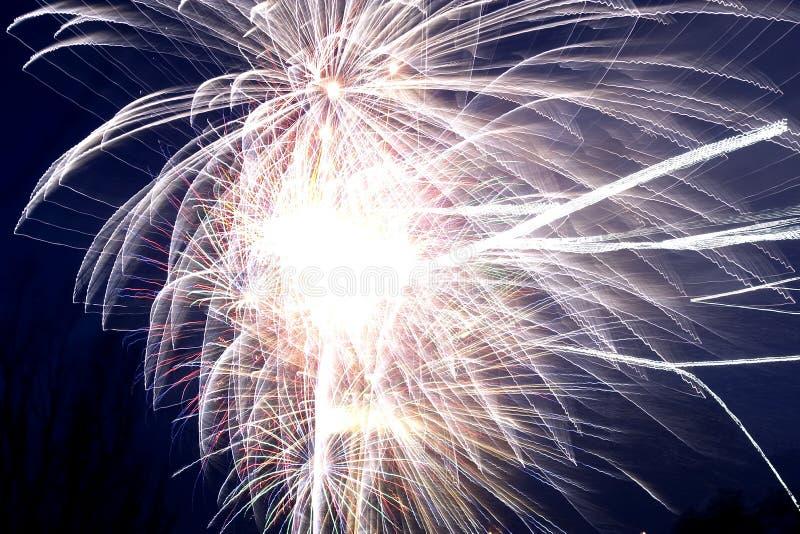 Fogo-de-artifício que explode fotografia de stock royalty free