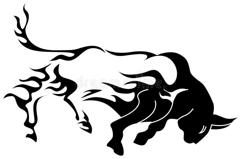 Fogo de Bull ilustração royalty free