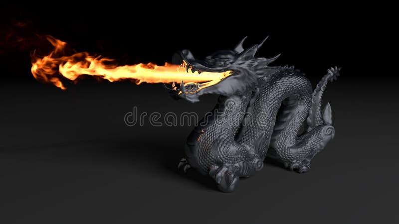 Fogo do dragão ilustração royalty free