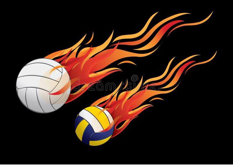 Fogo do voleibol ilustração stock