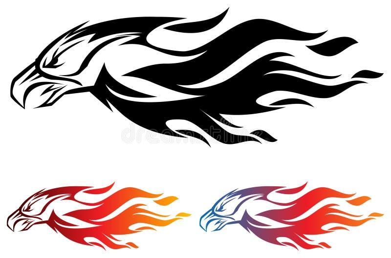 Fogo Eagle ilustração stock