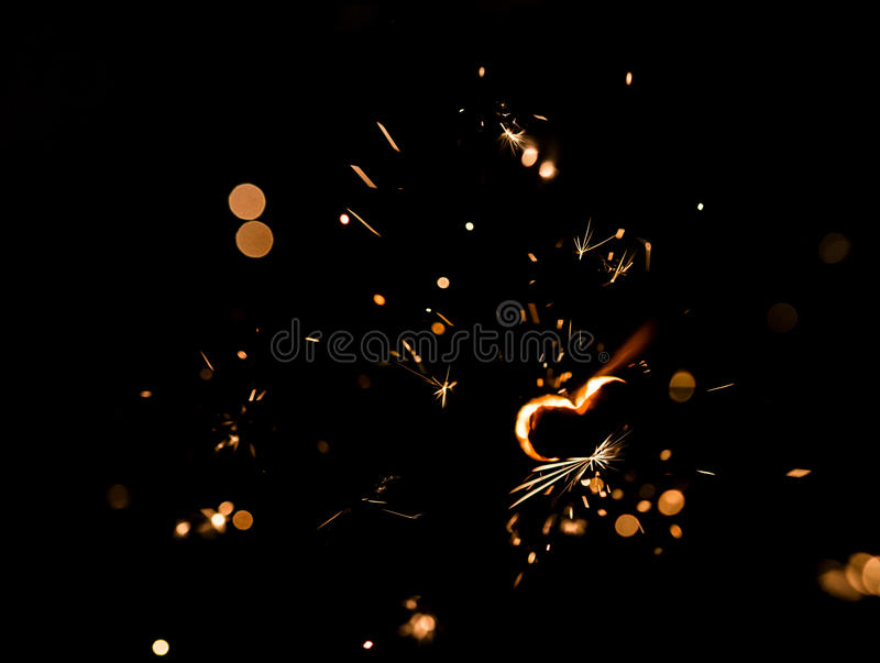 Fogo efervescente com uma forma do coração foto de stock royalty free