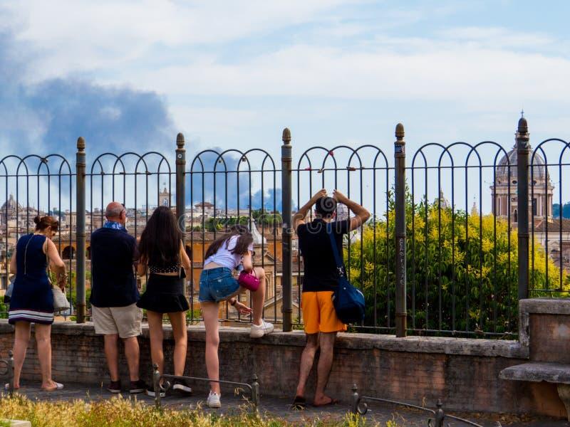 Fogo em Roma foto de stock royalty free