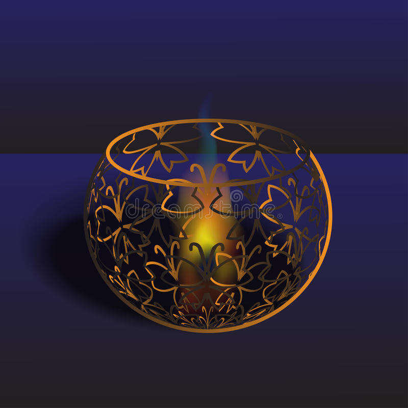 Fogo em um vaso ilustração royalty free