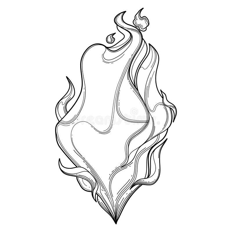Chamas Graficas Do Fogo Ilustracao Do Vetor Ilustracao De Inferno