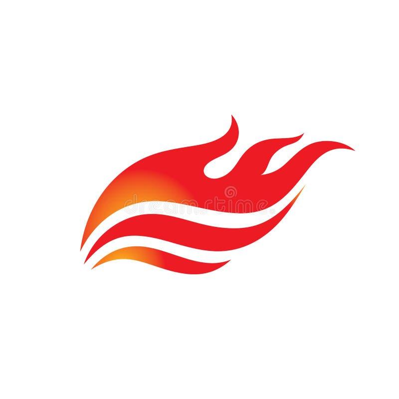 Fogo - ilustração do conceito do molde do logotipo do vetor Sinal criativo da chama Ícone morno quente Símbolo perigoso Elemento  ilustração royalty free