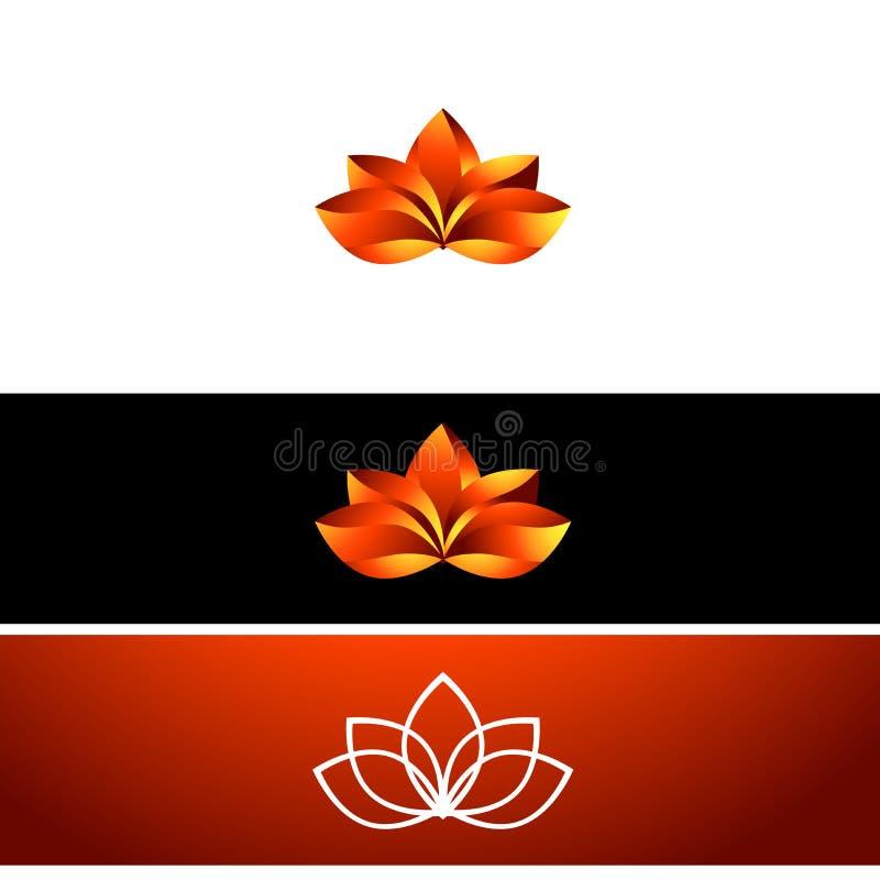 Fogo Lotus Flower ilustração royalty free