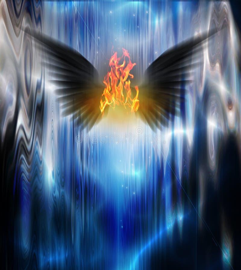 Fogo voado preto ilustração royalty free
