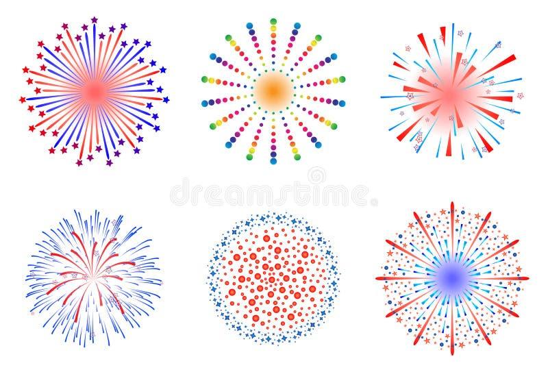 Fogos-de-artifício ilustração stock