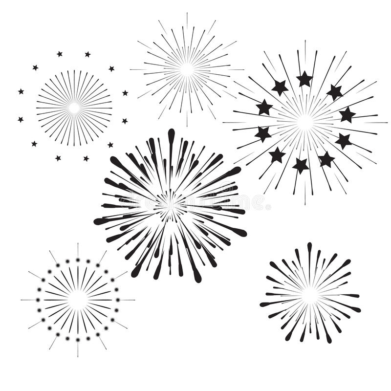 Fogos-de-artifício ilustração do vetor
