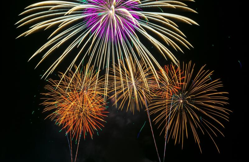 Fogos-de-artifício coloridos foto de stock