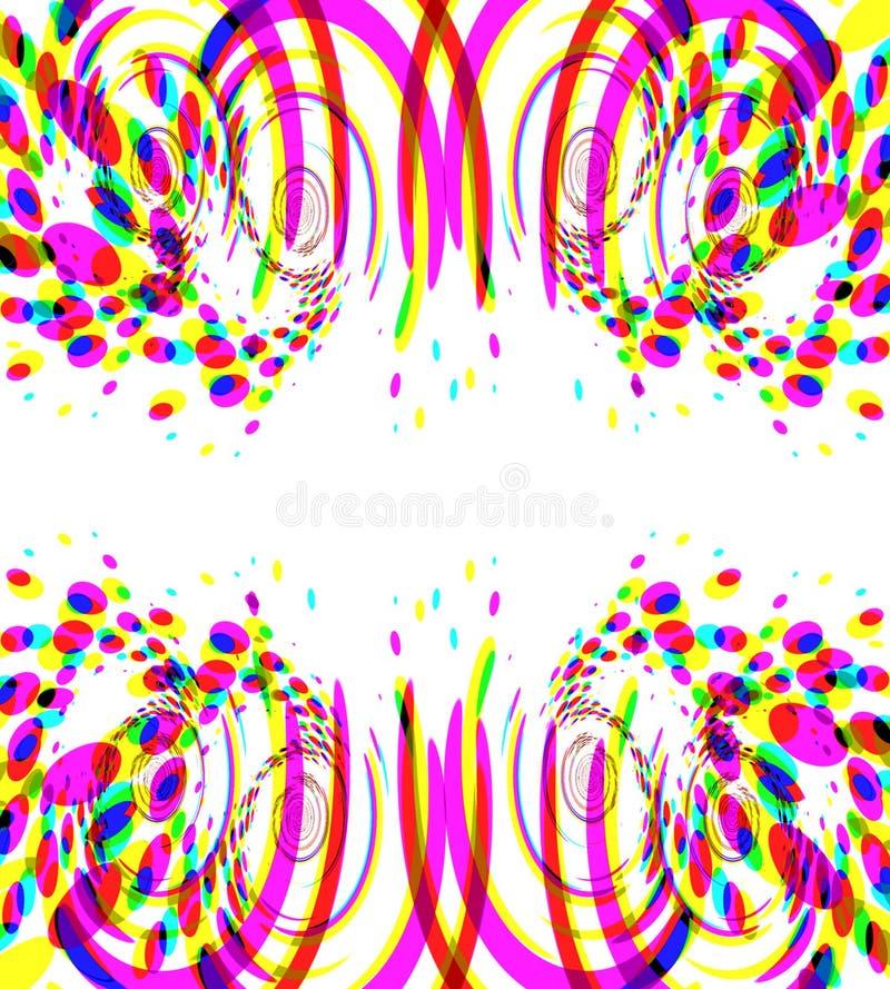 Fogos-de-artifício coloridos do Confetti ilustração do vetor